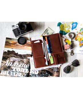 Кожаное портмоне Travel 403 из натуральной кожи