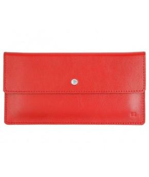 Кожаный Кошелек Ezcase Flat из натуральной кожи (Красный)