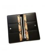 Кожаный Кошелек Ezcase Mirror из натуральной кожи (Черный)