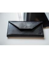 Кожаный Кошелек Ezcase Envelope из натуральной кожи (Черный)