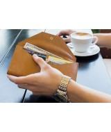 Кожаный Кошелек Ezcase Envelope из натуральной кожи (Песочный)