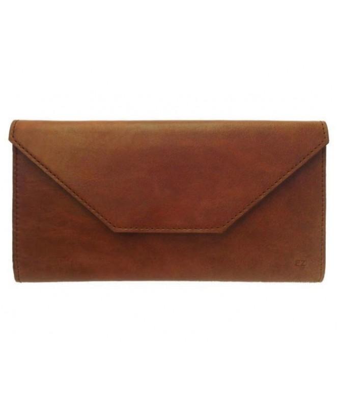 Кожаный Кошелек Ezcase Envelope из натуральной кожи (Коричневый)