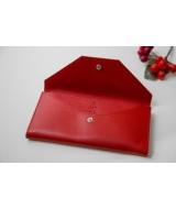 Кожаный Кошелек Ezcase Envelope из натуральной кожи (Красный)