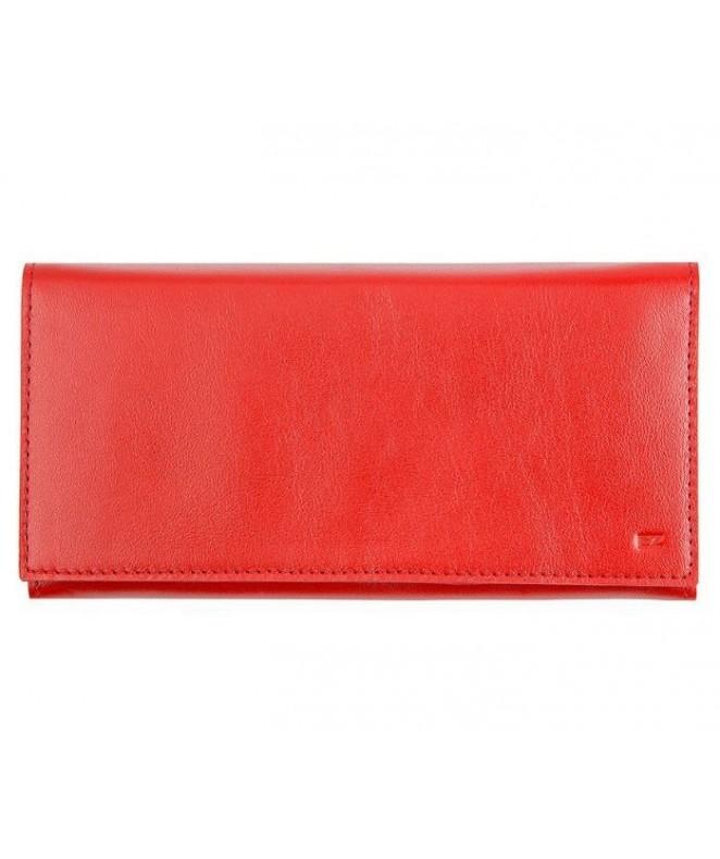 Кожаный Кошелек Ezcase Flight из натуральной кожи (Красный)