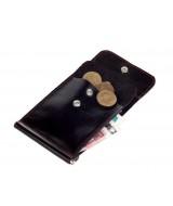 Кожаный зажим для денег Ezcase One из натуральной кожи (Черный)