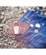 Кожаный зажим для денег Ezcase One из натуральной кожи (Коричневый)