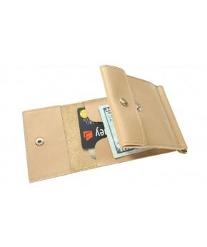 Кожаный зажим для денег Ezcase One из натуральной кожи (Бежевый)