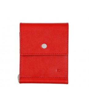 Кожаный зажим для денег Ezcase One из натуральной кожи (Красный)