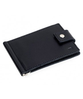 Кожаный зажим для денег Ezcase Standart из натуральной кожи (Черный)