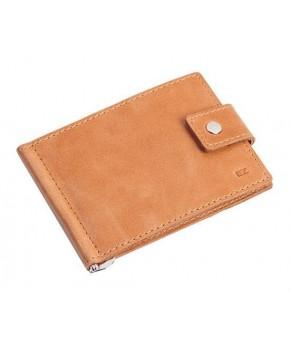 Кожаный зажим для денег Ezcase Standart из натуральной кожи (Песочный)