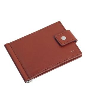 Кожаный зажим для денег Ezcase Standart из натуральной кожи (Коричневый)