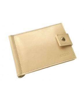 Кожаный зажим для денег Ezcase Standart из натуральной кожи (Бежевый)