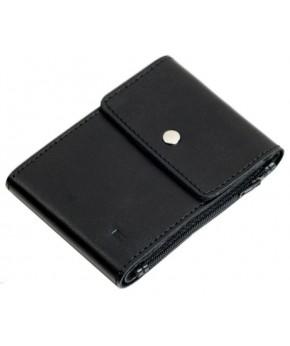Кожаный зажим для денег Ezcase Duo из натуральной кожи (Черный)