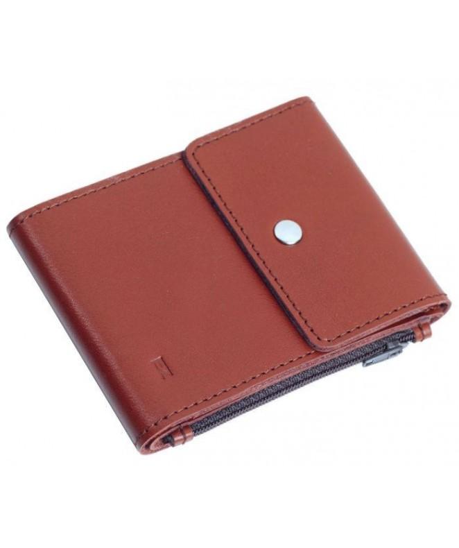 Кожаный зажим для денег Ezcase Duo из натуральной кожи (Коричневый)