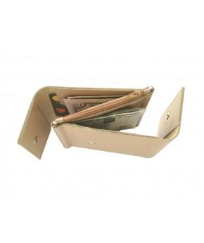 Кожаный зажим для денег Ezcase Duo из натуральной кожи (Бежевый)
