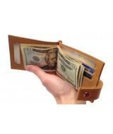Зажим для денег Ezcase Standart Pro из натуральной кожи (Песочный)