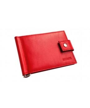 Зажим для денег Ezcase Standart Pro из натуральной кожи (Красный)