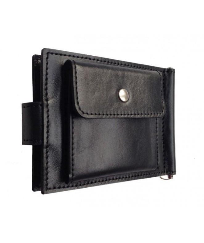 Зажим для денег Ezcase Standart Pro из натуральной кожи (Черный)