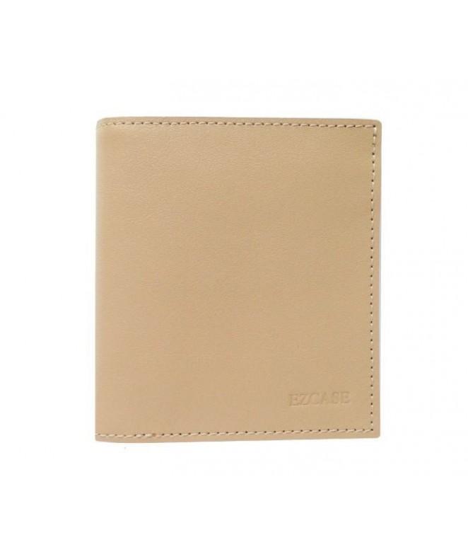 Кожаный Кошелек Ezcase Compact из натуральной кожи (Бежевый)