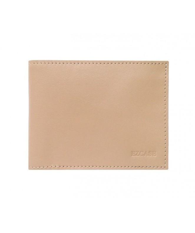Кожаный Кошелек Ezcase Slim из натуральной кожи (Бежевый)