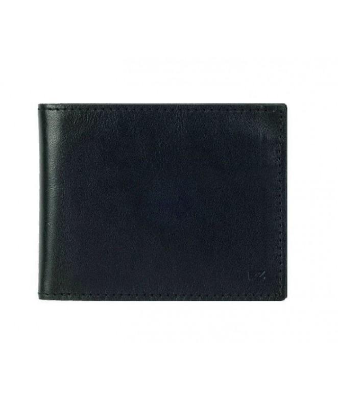 Кожаный Кошелек Ezcase Slim из натуральной кожи (Черный)