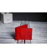 Кожаный Кошелек Ezcase Slim из натуральной кожи (Красный)