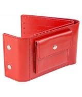Кожаный Кошелек Ezcase Travel из натуральной кожи (Красный)