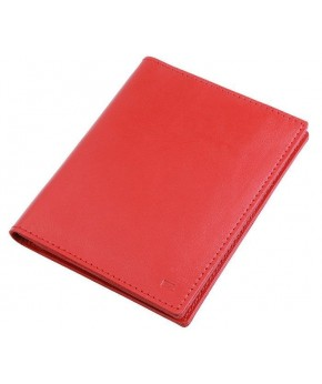 Обложка для документов Ezcase из натуральной кожи (Красная)