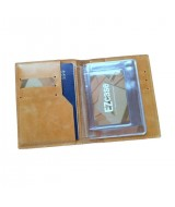 Обложка для документов Ezcase из натуральной кожи (Песочная)