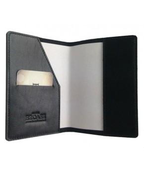 Обложка для паспорта Ezcase из натуральной кожи (Черная)