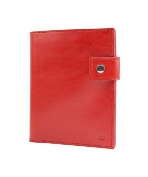 Кожаное Портмоне Ezcase C12 из натуральной кожи (Красное)