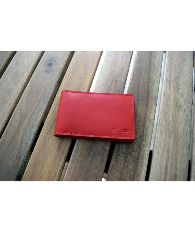 Кожаная визитница Mini (Красная)