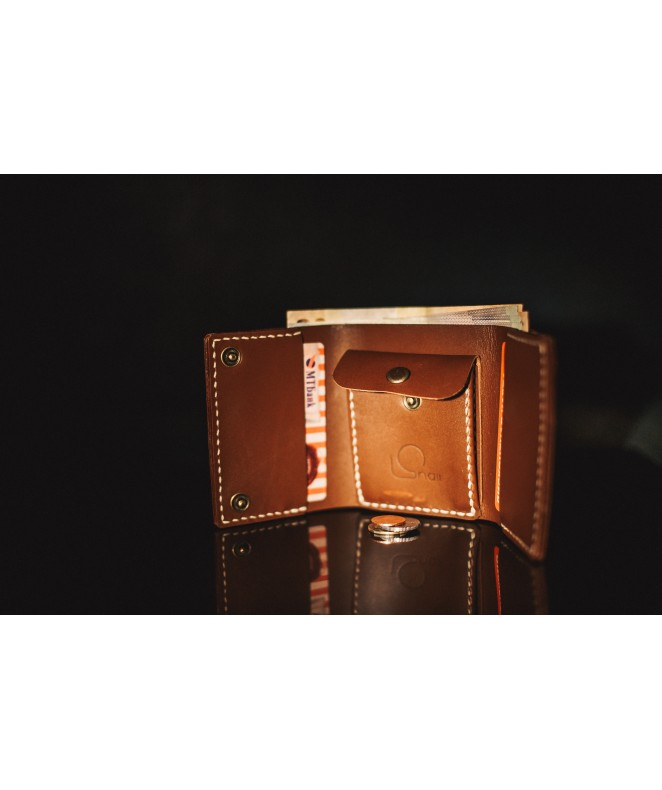 Кожаный кошелек Snail W701 из натуральной кожи